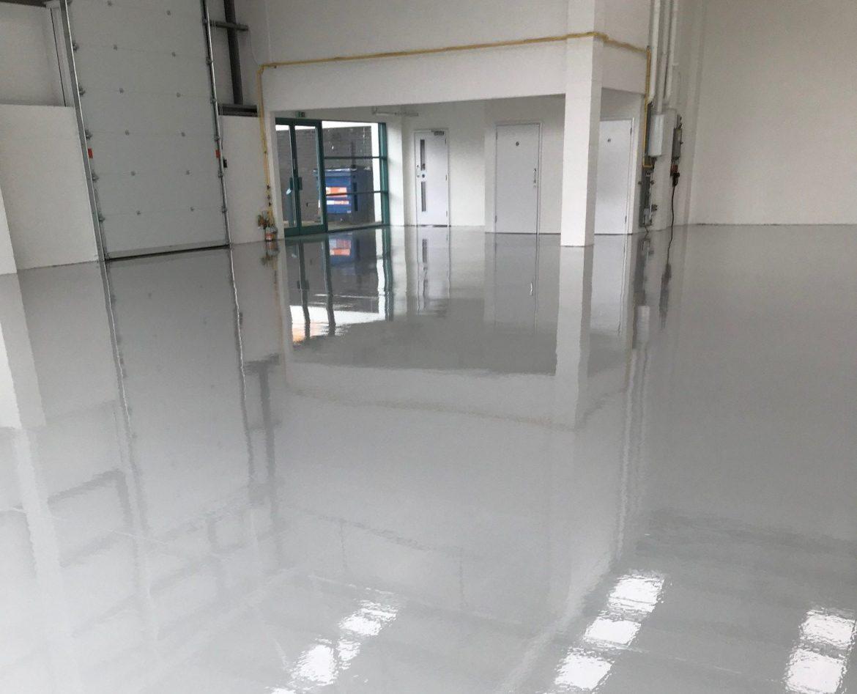 Light grey Epoxy resin flooring